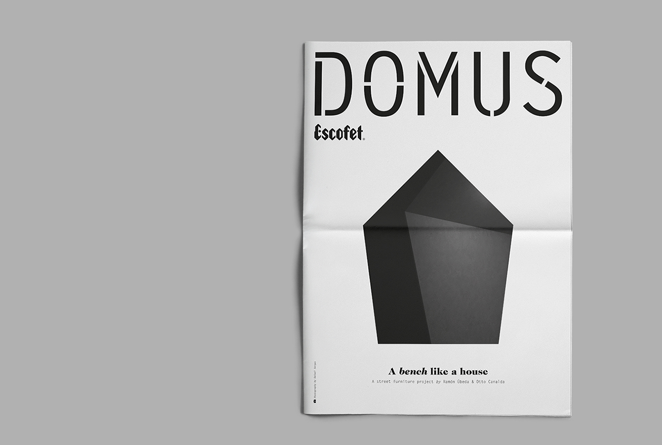 Domus Magazine, a bench like a house